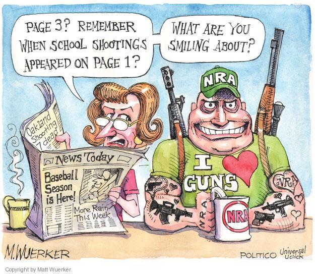 School Shooting Editorial: Matt Wuerker's Editorial Cartoons
