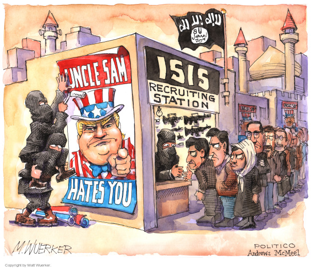 Uncle Sam Hates You. ISIS recruiting station.