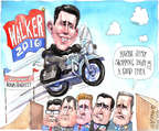 Matt Wuerker  Matt Wuerker's Editorial Cartoons 2015-06-08 2016 election Scott Walker