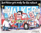 Matt Wuerker  Matt Wuerker's Editorial Cartoons 2015-07-13 2016 election Scott Walker