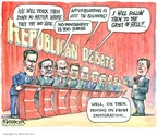 Matt Wuerker  Matt Wuerker's Editorial Cartoons 2007-05-29 2008 debate