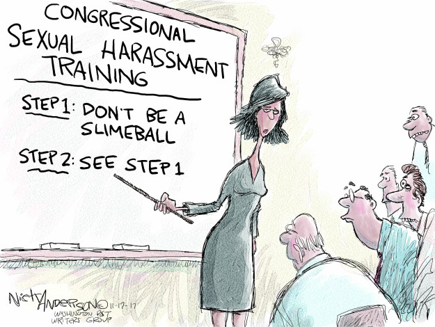 Congressional sexual harassment training. Step 1: Dont be a slimeball. Step 2: See step 1.