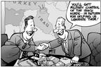 Kirk Anderson  Kirk Anderson's Editorial Cartoons 2003-02-07 negotiation