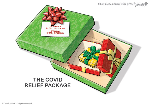 The Covid Relief Package. Happy holidays! From Congress.