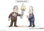 Clay Bennett  Clay Bennett's Editorial Cartoons 2008-03-08 2008 election endorsement