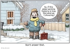 Clay Bennett  Clay Bennett's Editorial Cartoons 2010-02-13 climate change skepticism