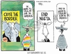 Chip Bok  Chip Bok's Editorial Cartoons 2008-03-03 immigration