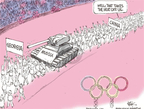 Chip Bok  Chip Bok's Editorial Cartoons 2008-08-11 Russia Olympics