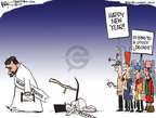 Chip Bok  Chip Bok's Editorial Cartoons 2009-12-31 baby new year