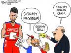 Chip Bok  Chip Bok's Editorial Cartoons 2014-03-29 basketball ball