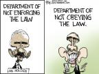 Chip Bok  Chip Bok's Editorial Cartoons 2014-04-10 law enforcement
