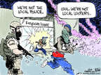 Chip Bok  Chip Bok's Editorial Cartoons 2014-08-21 law enforcement