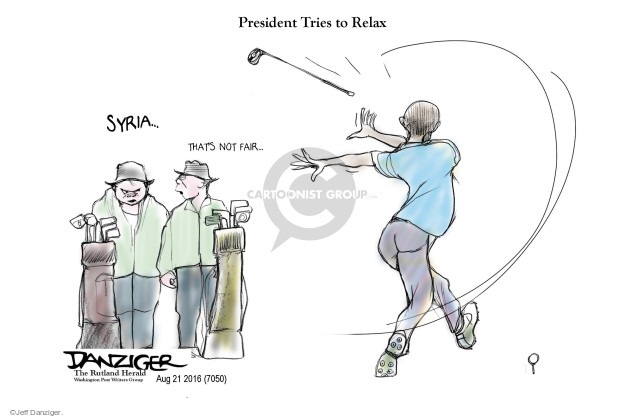 President Tries to Relax. Syria � Thats not fair �