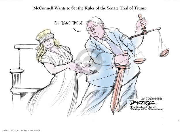 McConnell Wants to Set the Rules of the Senate Trial of Trump. Ill take these.