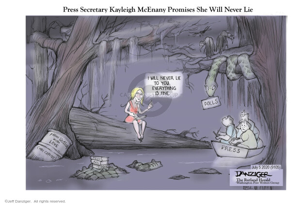 Press Secretary Kayleigh McEnany Promises She Will Never Lie. I will never lie to you. Everything is fine. Polls. Press. From Russia with love. May explode.