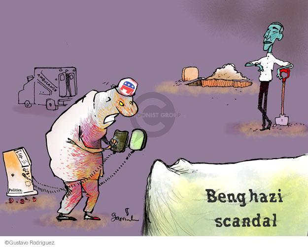 Benghazi scandal. Ambulance.