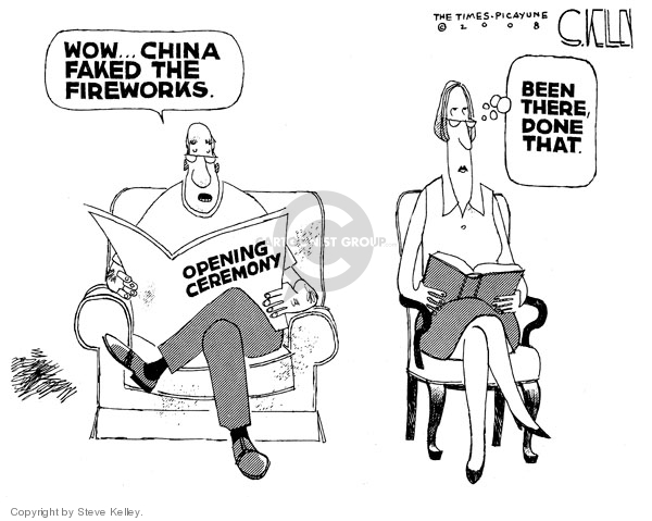 Wow..China faked the fireworks. Opening ceremony. Been there, done that.