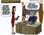 Steve Kelley  Steve Kelley's Editorial Cartoons 2016-10-27 2016 Election Hillary Clinton