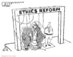 Steve Kelley  Steve Kelley's Editorial Cartoons 2007-01-19 political ethics
