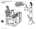 Steve Kelley  Steve Kelley's Editorial Cartoons 2007-06-05 political ethics