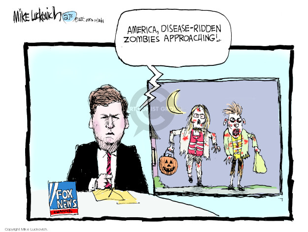America, disease-ridden zombies approaching! Fox News Channel.