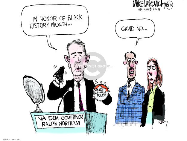 In honor of Black History Month � Gawd no � VA Dem. Governor Ralph Northam. Shoe polish.