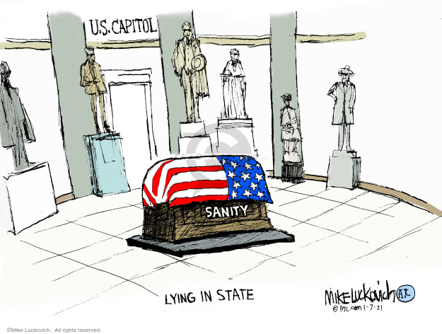U.S. Capitol. Sanity. Lying in State.