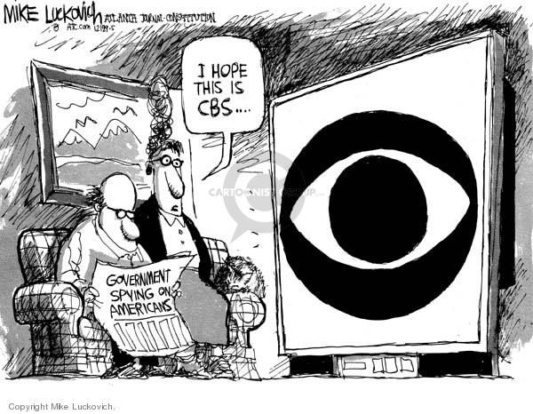 Government Spying on Americans.  I hope this is CBS.