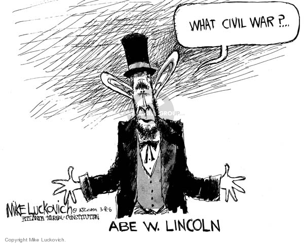 Mike Luckovich S Editorial Cartoons Abraham Lincoln Editorial
