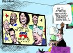 Mike Luckovich  Mike Luckovich's Editorial Cartoons 2011-11-09 2012 debate