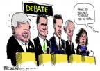 Mike Luckovich  Mike Luckovich's Editorial Cartoons 2012-01-20 2012 debate