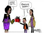 Mike Luckovich  Mike Luckovich's Editorial Cartoons 2012-05-13 Michelle Obama