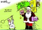 Mike Luckovich  Mike Luckovich's Editorial Cartoons 2013-12-11 Santa Claus