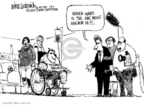 Mike Luckovich  Mike Luckovich's Editorial Cartoons 2006-02-03 injury