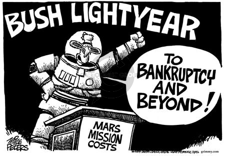 Bush Lightyear.  To bankruptcy and beyond!