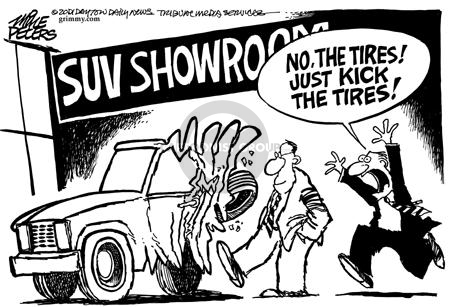SUV Showroom.  No, the tires!  Just kick the tires!