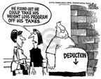 Mike Peters  Mike Peters' Editorial Cartoons 2002-04-06 deduct