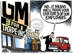 Mike Peters  Mike Peters' Editorial Cartoons 2008-02-13 automotive industry