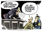 Mike Peters  Mike Peters' Editorial Cartoons 2008-12-26 financial crisis