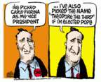 Mike Peters  Mike Peters' Editorial Cartoons 2016-04-29 Carly Fiorina