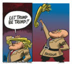 Mike Peters  Mike Peters' Editorial Cartoons 2018-03-14 Donald Trump hair