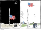 Joel Pett  Joel Pett's Editorial Cartoons 2009-11-11 half mast flag