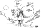Dwane Powell  Dwane Powell's Editorial Cartoons 2007-11-16 money