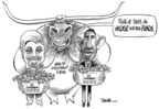 Dwane Powell  Dwane Powell's Editorial Cartoons 2008-03-26 candidates democrats