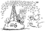 Dwane Powell  Dwane Powell's Editorial Cartoons 2008-07-23 money