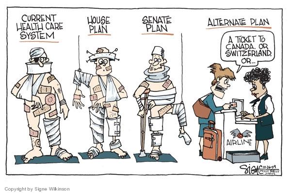 Signe Wilkinson's Editorial Cartoons - Health Care Plan