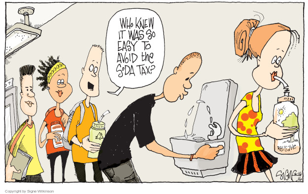 the soda tax editorial cartoons the editorial cartoons