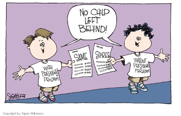 Signe Wilkinson's Editorial Cartoons - No Child Left ...