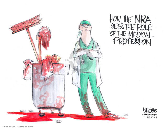 How the NRA sees the role of the medical profession.