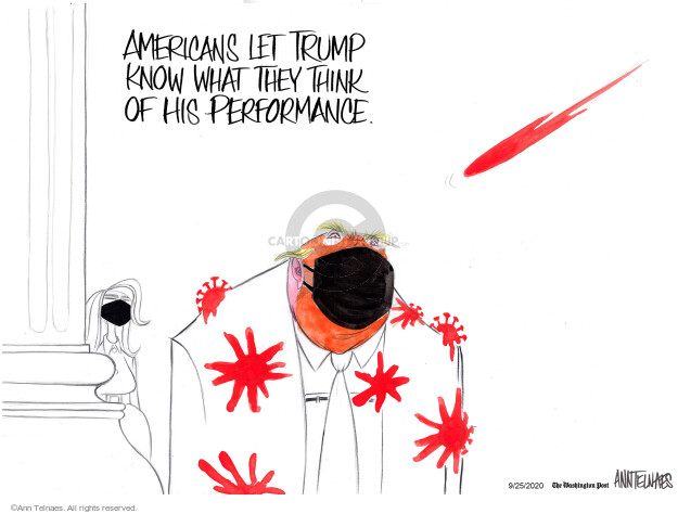 Americans let Trump know what they think of his performance.